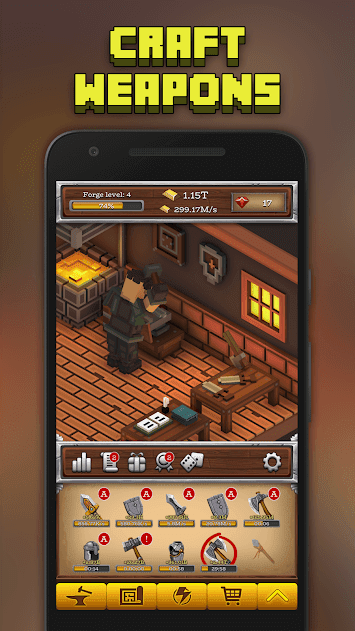 ForgeCraft - Idle Tycoon v 1.15 apk mod DINHEIRO INFINITO