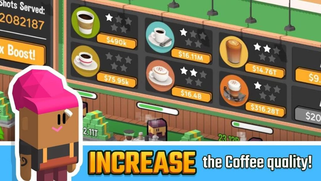 Idle Coffee Corp v 1.6.464 apk MOD
