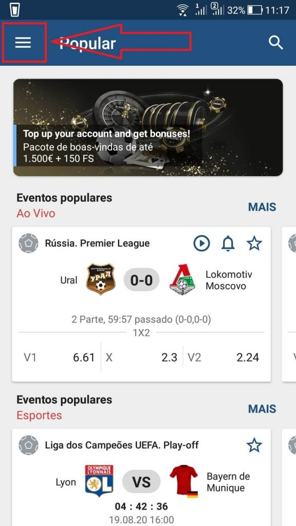 1xBet Loader para Android v70 1590 APK - ULTIMA VERSÃO